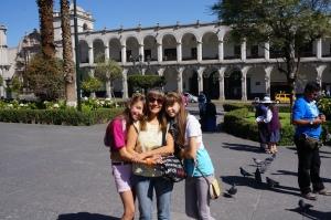 Sonja, Maria & Diana. My family in Arequipa.
