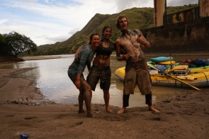 There were several mud fights along the way (real quick-sand is scary!)