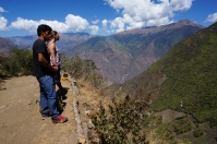 Looking down to Choquequirao