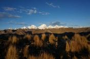 Sunrise towards Cordillera Huayhaush