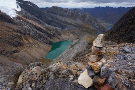 Built this cairn at the highest spot i climbed to, with Julieanne, Paul, AJ & TJ in mind. Thanks for the support guys!
