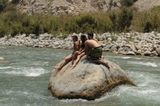 Hanging in the river