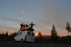 Volcano, moon, sunset, kayaks, awesome van and great crew. What more do you need?