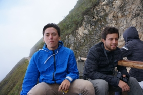 On top of a truck is the only way to travel the andes